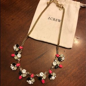 J. Crew Statement Necklace Coral